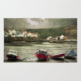 Staithes From The Harbour. Rug