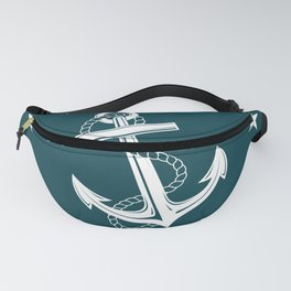 Anchor and Stars on Indigo Blue Fanny Pack