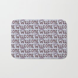 Welcome Letters Pattern Bath Mat