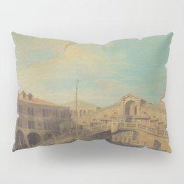 Grand Canal Rialto Bridge - Canaletto (Distressed Plaster Look) Pillow Sham