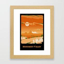 Monument Moon Framed Art Print