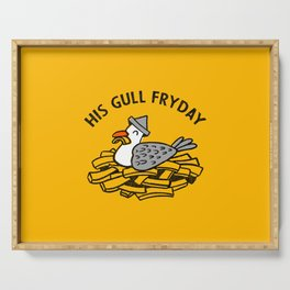 His Gull Fryday Serving Tray