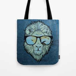 Stylish Lion Design with Moroccan Leather background Tote Bag