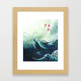 Flying turtles Framed Art Print