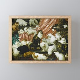 Classical Masterpiece 1893 - My Wife's Lovers by Carl Kahler Framed Mini Art Print