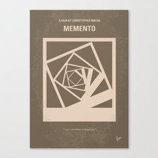 No243 My Memento minimal movie poster Canvas Print