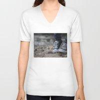 converse V-neck T-shirts featuring Converse by AJ Calhoun