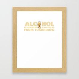 alcohol luck hangover beer drinking fun gift Framed Art Print