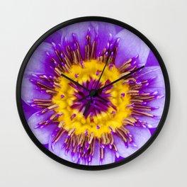 Blue Lotus Close Perspective Wall Clock