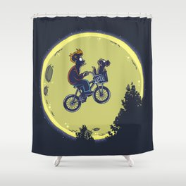 Fry me to the moon Shower Curtain