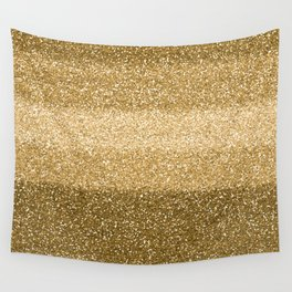 Glitter Glittery Copper Bronze Gold Wall Tapestry