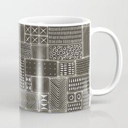 African Brown Tribal Mud Cloth Coffee Mug