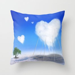When I feel love, I' d be above the clouds Throw Pillow