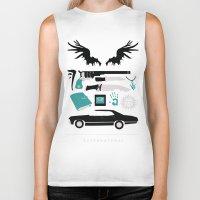 supernatural Biker Tanks featuring Supernatural by Abbie Imagine