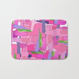 Hand Pink Bath Mat