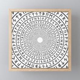 Runic Tunnel Framed Mini Art Print