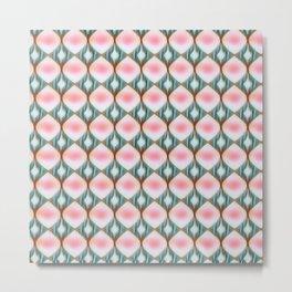 Raindrop Pink Metal Print