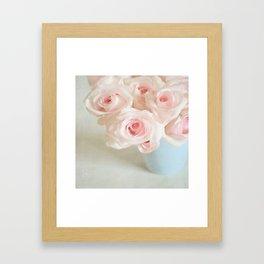 Sweet baby pink roses. Framed Art Print