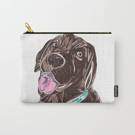 Brown Chocolate Labrador print Carry-All Pouch