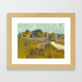 Vincent van Gogh - Farmhouse in Provence Framed Art Print