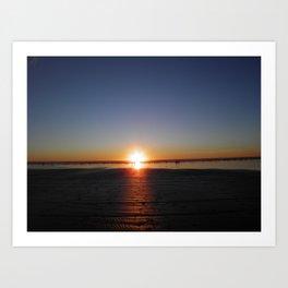 Sun set at the beach Art Print