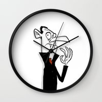 dracula Wall Clocks featuring Dracula by The Drawbridge