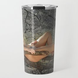 Naked in the Forest Travel Mug