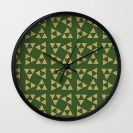 Print 129 - The Legend Of Zelda Triforce Wall Clock