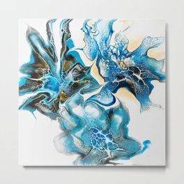 Light blue Metal Print