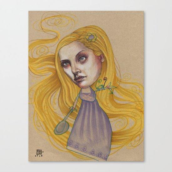 TANGLED HAIR Canvas Print