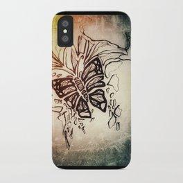 Winter textures iPhone Case