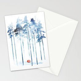 Sleeping in the woods Stationery Cards