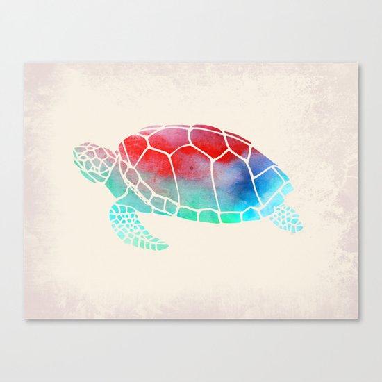 Watercolor Turtle Canvas Print