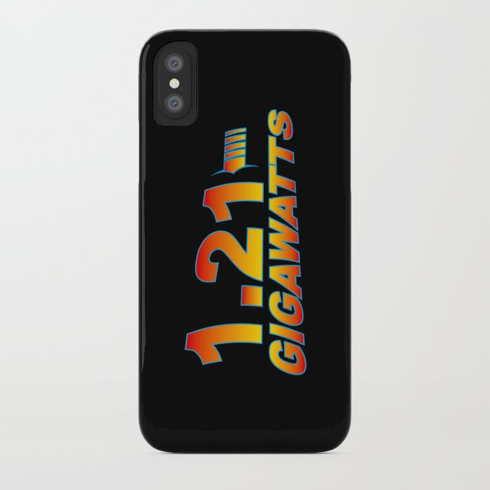 59875af377603c Back To The Future-1.21 Gigawatts iPhone Case by nicowriter