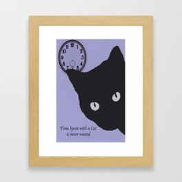 Time Spent with a Cat Framed Art Print
