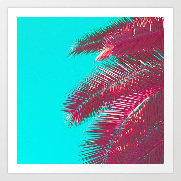 Neon Palm Art Print