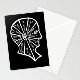 Vintage Black and White Phrenology Illustration Stationery Cards