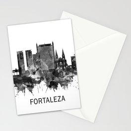 Fortaleza Brazil Skyline BW Stationery Cards