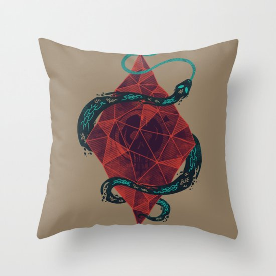 Mystic Cystal Throw Pillow