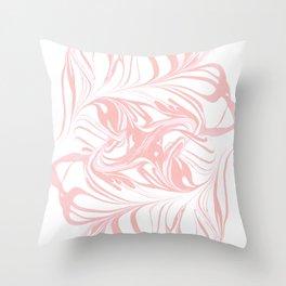 Original Marble Texture - Rose Gold Throw Pillow