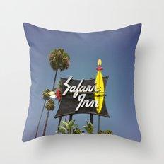 Safari Inn Throw Pillow