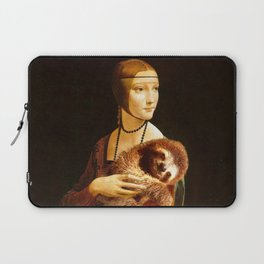 Lady With A Sloth Laptop Sleeve