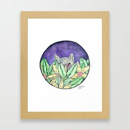 Moon Kitty Framed Art Print
