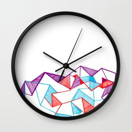 Polygon collection - Triangles geometric Wall Clock