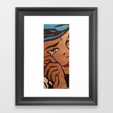 And With One Tear Framed Art Print