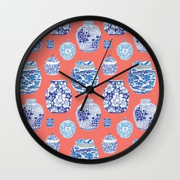Chinoiserie Ginger Jar Collection No.4 Wall Clock
