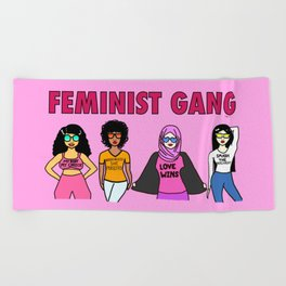 Feminist Gang Beach Towel