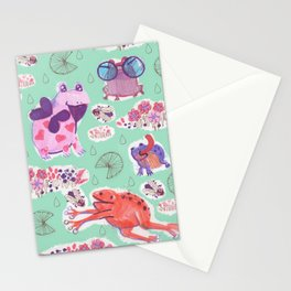 all the frogs Stationery Cards