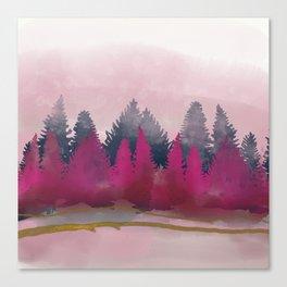 snow winter frozen forest Canvas Print