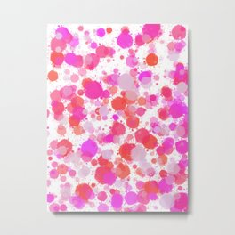 Pretty In Pink Splatters Metal Print